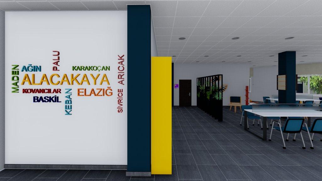 T.C. Kültür ve Turizm Bakanlığı KYGM / Elazığ Alacakaya Semt Kütüphanesi