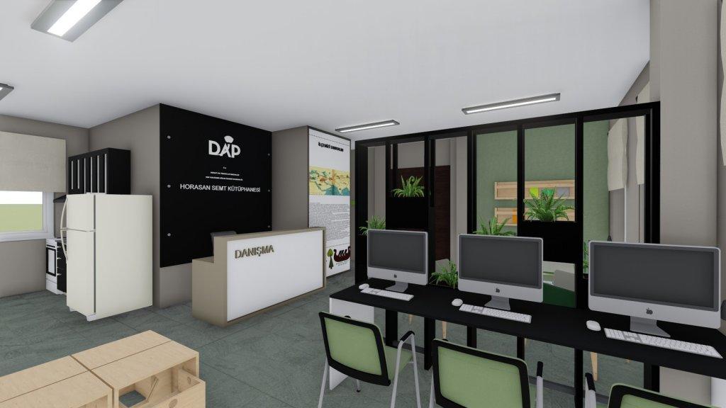 T.C. Sanayi ve Teknoloji Bakanlığı DAP / Erzurum Horasan Semt Kütüphanesi