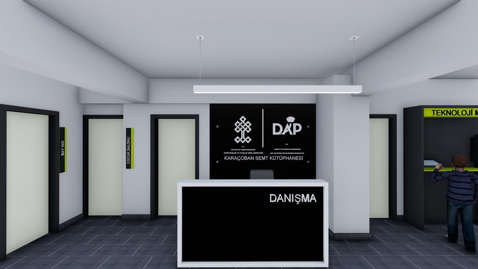 T.C. Kültür ve Turizm Bakanlığı KYGM / T.C. Sanayi ve Teknoloji Bakanlığı DAP / Erzurum Karaçoban Semt Kütüphanesi